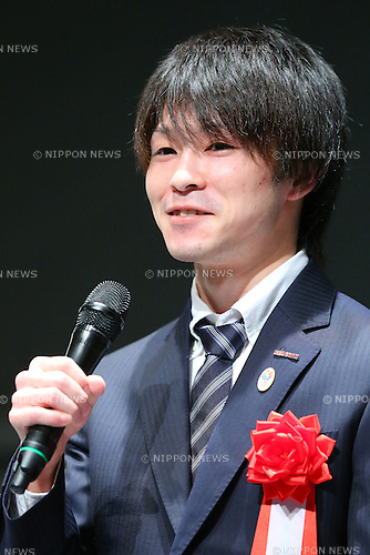 Kohei Uchimura,<br /> JUNE 12, 2015 - News : <br /> JOC Sports Awards ceremony <br /> at Tokyo International Forum, Tokyo, Japan. <br /> (Photo by Shingo Ito/AFLO SPORT)