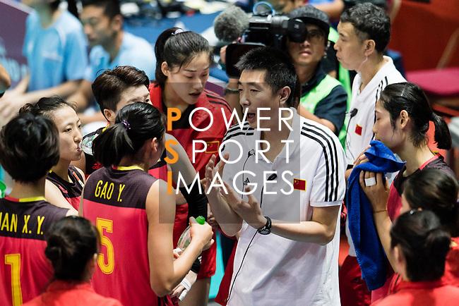China Coach An Jiajie during the FIVB Volleyball World Grand Prix match between China vs Japan on July 21, 2017 in Hong Kong, China. Photo by Marcio Rodrigo Machado / Power Sport Images