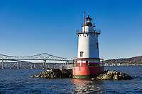 Sleepy Hollow Lighthouse (aka Tarrytown Lighthouse and Kingsland Point Lighthouse), Sleepy Hollow, New York, USA