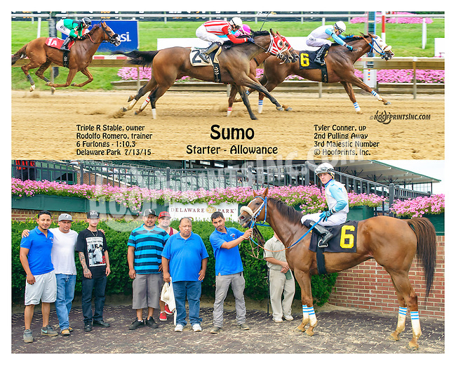 Sumo winning at Delaware Park on 7/13/15