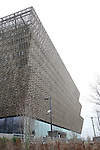 Exterior at the National Museum of African American History & Culture on January 15, 2017 in Washington,D.C..