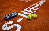 Den Bosch, The Netherlands, Februari 07 2019,  Maaspoort , FedCup  Netherlands - Canada, Dunlop ballsPhoto: Tennisimages/Henk Koster