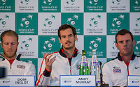 Davis Cup - Barclaycard Arena - Great Britain Press Conference - 02/03/2016