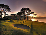 The 18th green at Mahony's Point, Killarney Golf Club.<br /> Picture by Don MacMonagle