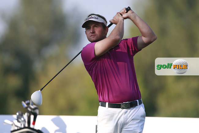 Imre Vasvary (AUT) tees off on the 8th tee during Friday's Round 2 of the Austrian Open presented by Lyoness at the Diamond Country Club, Atzenbrugg, Austria, 23rd September 2011 (Photo Eoin Clarke/www.golffile.ie)