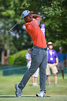 Xander Schauffele (USA) watches his tee shot on 11 during round 2 of the WGC FedEx St. Jude Invitational, TPC Southwind, Memphis, Tennessee, USA. 7/26/2019.<br /> Picture Ken Murray / Golffile.ie<br /> <br /> All photo usage must carry mandatory copyright credit (© Golffile | Ken Murray)