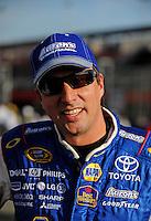 Oct. 9, 2009; Fontana, CA, USA; NASCAR Sprint Cup Series driver David Reutimann during qualifying for the Pepsi 500 at Auto Club Speedway. Mandatory Credit: Mark J. Rebilas-