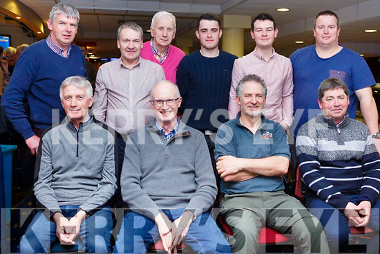 Staff from the ESB having a night out at the Greyhound Track on Friday night last. Seated l-r, Tom Leen, John Quirke, Billy Horgan and John Buckley. Back l-r, Damien Stack, Tim O'Shea, Tom Lynch, Declan Behan, Padraig Leen and Liam Sugrue.