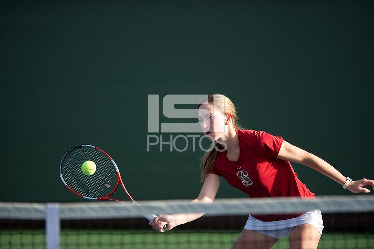 Carolyn McVeigh of the 2010 Stanford women's Tennis Team.