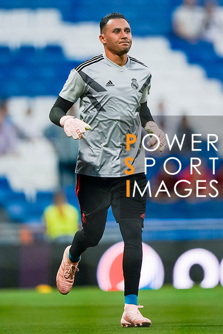 Goalkeeper Keylor Navas of Real Madrid reacts during the warmup prior to the UEFA Champions League 2018-19 match between Real Madrid and Roma at Estadio Santiago Bernabeu on September 19 2018 in Madrid, Spain. Photo by Diego Souto / Power Sport Images