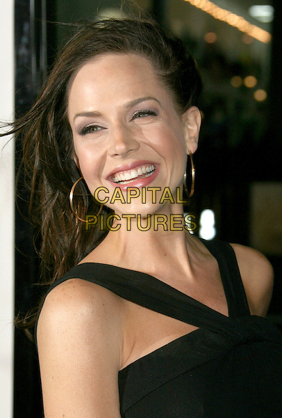 "JULIE BENZ.""Fool's Gold"" Los Angeles Premiere at Grauman's Chinese Theatre, Hollywood, California, USA. .January 30th, 2008 .headshot portrait gold hoop earrings windy messy hair .CAP/ADM/RE.©Russ Elliot/AdMedia/Capital Pictures."