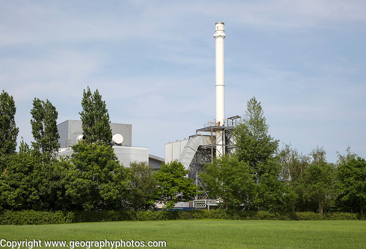 Power station powered by chicken dung waste biofuel, Eye, Suffolk, England