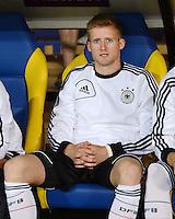 FUSSBALL  EUROPAMEISTERSCHAFT 2012   VORRUNDE Niederlande - Deutschland       13.06.2012 Andre Schuerrle (Deutschland) auf der Ersatzbank