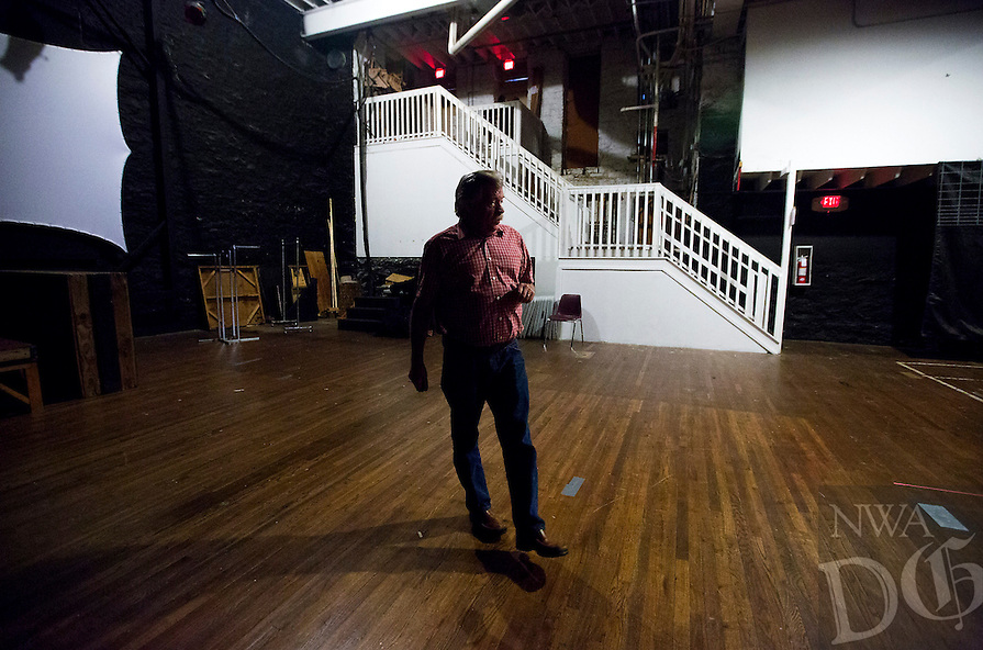 NWA Democrat-Gazette/JASON IVESTER<br /> Eureka Springs Mayor Butch Berry walks around the basement of The Auditorium on Wednesday, Sept. 28, 2016, on Main Street in Eureka Springs.