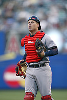 Michael Barrett of the USA during the World Baseball Championships at Angel Stadium in Anaheim,California on March 16, 2006. Photo by Larry Goren/Four Seam Images