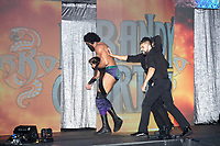WWE Champion Jinder Mahal (left) leaves the arena with his allies, the tag-team duo known as The Singh Brothers, after losing his match against Randy Orton at a WWE Live Summerslam Heatwave Tour event at the MassMutual Center in Springfield, Massachusetts, USA, on Mon., Aug. 14, 2017.