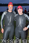 Pictured at the start of the Hardman Iron Distance Triathlon at the Killarney Golf and Fishing club on Saturday morning were Pat Sheehan and Tom O'Leary, Killarney.