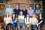 Staff of Atlantic Oils, Ardfert were in great mood in the Abbey Tavern, in the village last Saturday evening after winning over 32 thousand in the National Lottery recently, front L-R Breda O'Riordan, Elaine Ahern, Patrick Nolan, Norma O'Donoghue and Claire Walsh, back Liam Hussey, Padraig Cronin, Paul O'Connor, John Nolan with Cecil Waldron.