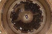 Vice President Mike Pence speaks as Former President George H. W. Bush lies in state in the U.S. Capitol Rotunda Monday, Dec. 3, 2018, in Washington. (Pool photo by Morry Gash via AP)