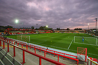 A general view of Crown Ground, home of Accrington Stanley FC<br /> <br /> Photographer Alex Dodd/CameraSport<br /> <br /> EFL Checkatrade Trophy - Northern Section Group B - Accrington Stanley v Blackpool - Tuesday 3rd October 2017 - Crown Ground - Accrington<br />  <br /> World Copyright &copy; 2018 CameraSport. All rights reserved. 43 Linden Ave. Countesthorpe. Leicester. England. LE8 5PG - Tel: +44 (0) 116 277 4147 - admin@camerasport.com - www.camerasport.com
