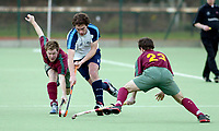 Hampstead / Cannock<br /> Mens Premier Division<br /> Paddington Rec Ground, Maida Vale, Feb 29, 2004<br /> Pic : Max Flego (Tel:07870-553631)<br /> Tim Thompson surges through the Cannock defence to set up an attack