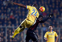 Mobido Diakite and M'baye Niang    during   Italian Serie A soccer match between Frosinone and AC Milan  at Matusa  Stadium in Frosinone ,December 20  , 2015