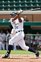 Francisco Martinez (54) of the Lakeland Flying Tigers during a game vs. the Ft. Myers Miracle June 6 2010 at Joker Marchant Stadium in Lakeland, Florida. Ft. Myers won the game against Lakeland by the score of 2-0.  Photo By Scott Jontes/Four Seam Images