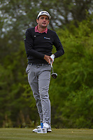 Keegan Bradley (USA) watches his tee shot on 15 during Round 2 of the Valero Texas Open, AT&T Oaks Course, TPC San Antonio, San Antonio, Texas, USA. 4/20/2018.<br /> Picture: Golffile | Ken Murray<br /> <br /> <br /> All photo usage must carry mandatory copyright credit (© Golffile | Ken Murray)