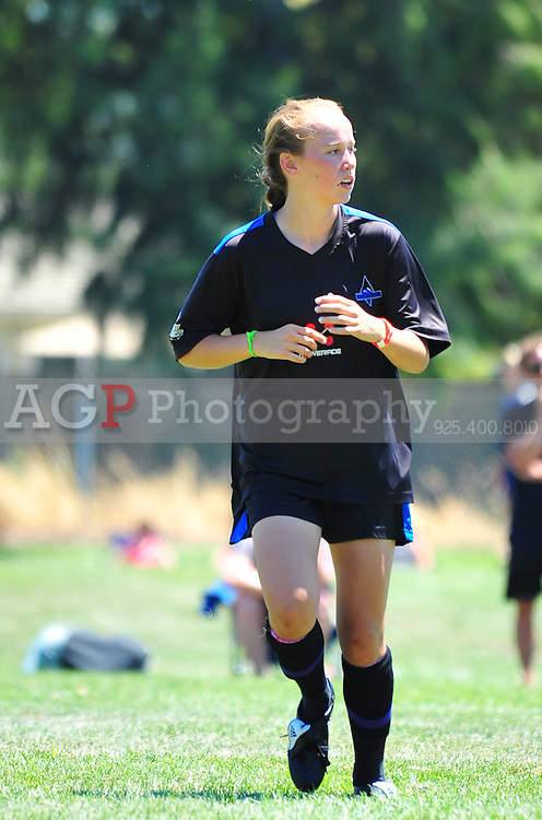 Allison Gorringe of Black Diamond U15 plays during the RAGE College Showcase 2010 in Pleasanton California July 25, 2010. (Photo by Alan Greth)