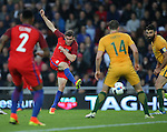James Milner of England takes a shot on goal during the International Friendly match at the Stadium of Light, Sunderland. Photo credit should read: Simon Bellis/Sportimage