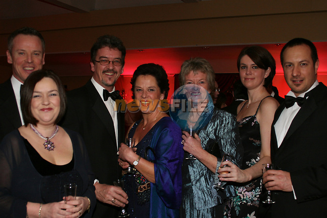Gabriel O'Brien, Joanne Cumisky, Darragh Halpin, Caroline Halpin, Darinagh Collins, Sonja Hannon and Mike Candon at the ABACAS Valentine Ball in the Boyne Valley Hotel...Photo NEWSFILE/Jenny Matthews.(Photo credit should read Jenny Matthews/NEWSFILE)....This Picture has been sent you under the condtions enclosed by:.Newsfile Ltd..The Studio,.Millmount Abbey,.Drogheda,.Co Meath..Ireland..Tel: +353(0)41-9871240.Fax: +353(0)41-9871260.GSM: +353(0)86-2500958.email: pictures@newsfile.ie.www.newsfile.ie.FTP: 193.120.102.198.