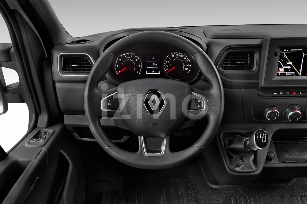 Car pictures of steering wheel view of a 2020 Renault Master Confort 4 Door Cargo Van