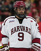Luke Esposito (Harvard - 9) - The Harvard University Crimson defeated the visiting Cornell University Big Red on Saturday, November 5, 2016, at the Bright-Landry Hockey Center in Boston, Massachusetts.