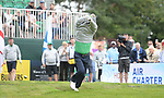 Ireland's Brian McFadden celebrates hitting his shot straight<br /> <br /> Celebrity Cup 2019 - Golf - Celtic Manor resort - Saturday 13th July 2019 - Newport<br /> <br /> © www.fotowales.com- PLEASE CREDIT IAN COOK