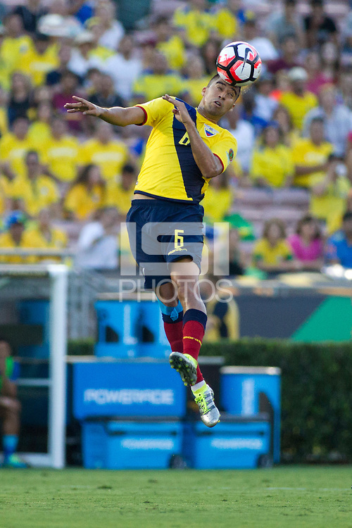 actionn photo during the match Brazil vs Ecuador, Corresponding Group -B- America Cup Centenary 2016, at Rose Bowl Stadium<br /> <br /> Foto de accion durante el partido Brasil vs Ecuador, Correspondiante al Grupo -B-  de la Copa America Centenario USA 2016 en el Estadio Rose Bowl, en la foto: Christian Noboa de Ecuador<br /> <br /> <br /> 04/06/2016/MEXSPORT/Victor Posadas.
