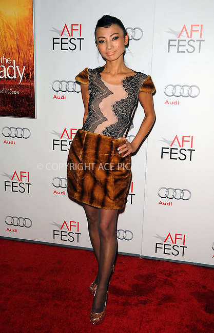 "WWW.ACEPIXS.COM . . . . .  ....November 4 2011, LA....Actress Bai Ling at the ""The Lady"" Centerpiece Gala at Graumans Theatre on November 4 2011 in LA....Please byline: PETER WEST - ACE PICTURES.... *** ***..Ace Pictures, Inc:  ..Philip Vaughan (212) 243-8787 or (646) 679 0430..e-mail: info@acepixs.com..web: http://www.acepixs.com"
