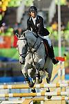 Natsumi Tomonaga (JPN), <br /> AUGUST 19, 2016 - Modern Pentathlon : <br /> Women's Riding <br /> at Deodoro Stadium <br /> during the Rio 2016 Olympic Games in Rio de Janeiro, Brazil. <br /> (Photo by YUTAKA/AFLO SPORT)