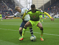 Preston North End's Daryl Horgan battles with  Reading's Jordan Obita<br /> <br /> Photographer Mick Walker/CameraSport<br /> <br /> The EFL Sky Bet Championship - Preston North End v Reading - Saturday 11th March 2017 - Deepdale - Preston<br /> <br /> World Copyright &copy; 2017 CameraSport. All rights reserved. 43 Linden Ave. Countesthorpe. Leicester. England. LE8 5PG - Tel: +44 (0) 116 277 4147 - admin@camerasport.com - www.camerasport.com