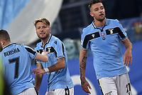 Ciro Immobile of Lazio celebrates after scoring a goal<br /> Roma 11-01-2020 Stadio Olimpico <br /> Football Serie A 2019/2020 <br /> SS Lazio - SSC Napoli<br /> Foto Antonietta Baldassarre / Insidefoto