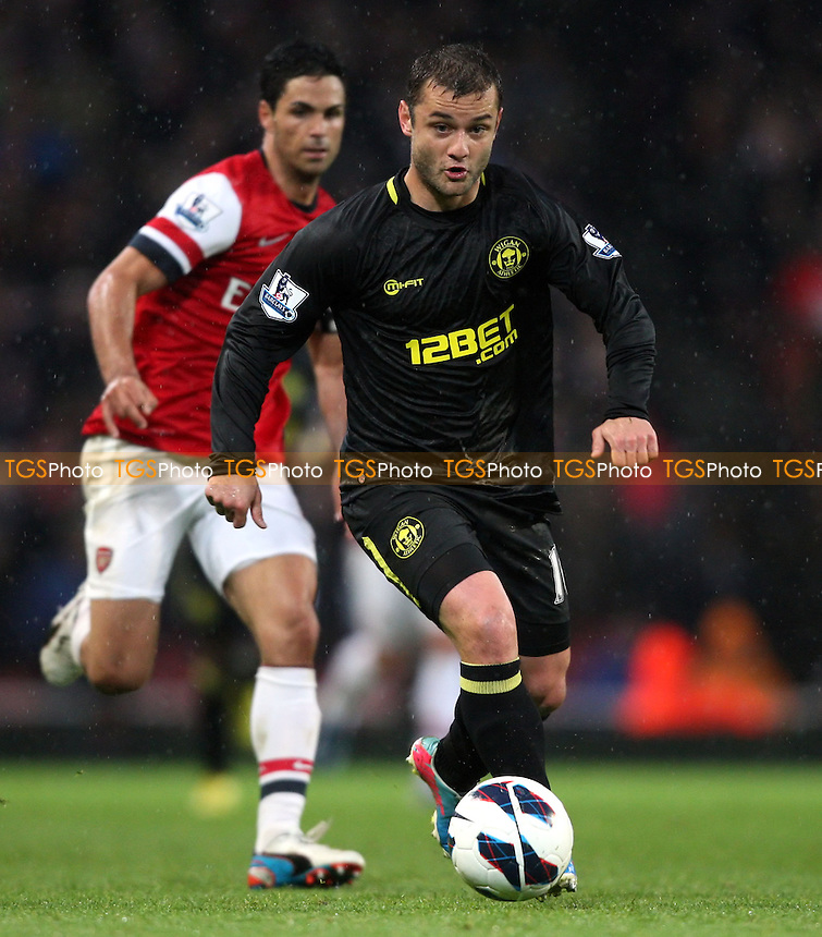 Shaun Maloney of Wigan - Arsenal vs Wigan Athletic, Barclays Premier League at the Emirates, Arsenal - 12/05/13 - MANDATORY CREDIT: Rob Newell/TGSPHOTO - Self billing applies where appropriate - 0845 094 6026 - contact@tgsphoto.co.uk - NO UNPAID USE.