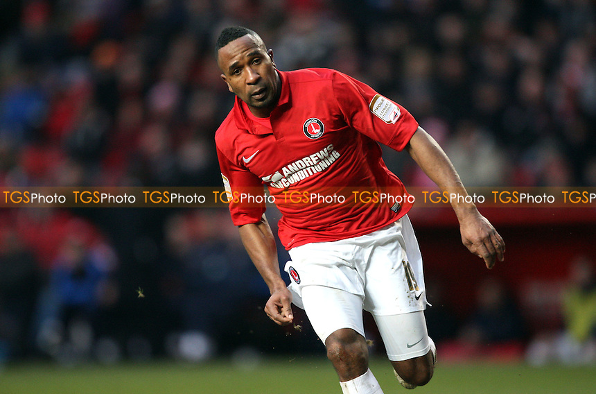 Ricardo Fuller of Charlton - Charlton Athletic vs Birmingham City, nPower Championship at The Valley, Charlton - 09/02/13 - MANDATORY CREDIT: Rob Newell/TGSPHOTO - Self billing applies where appropriate - 0845 094 6026 - contact@tgsphoto.co.uk - NO UNPAID USE.