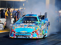 Jul 29, 2016; Sonoma, CA, USA; NHRA funny car driver Courtney Force during qualifying for the Sonoma Nationals at Sonoma Raceway. Mandatory Credit: Mark J. Rebilas-USA TODAY Sports