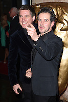 Dick and Dom arrives for the Children's BAFTA Awards 2014 at The Roundhouse, Camden, London, London. 23/11/2014 Picture by: Steve Vas / Featureflash