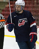 Grant Mismash - The Harvard University Crimson defeated the US National Team Development Program's Under-18 team 5-2 on Saturday, October 8, 2016, at the Bright-Landry Hockey Center in Boston, Massachusetts.