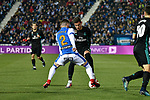 Leganes Tito Roman vs Real Madrid Theo Hernandez during Copa del Rey  match. A quarter of final go. 20180118.