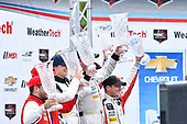 IMSA WeatherTech SportsCar Championship<br /> Chevrolet Sports Car Classic<br /> Detroit Belle Isle Grand Prix, Detroit, MI USA<br /> Saturday 3 June 2017<br /> 63, Ferrari, Ferrari 488 GT3, GTD, Alessandro Balzan, Christina Nielsen, 93, Acura, Acura NSX, GTD, Andy Lally, Katherine Legge, 48, Lamborghini, Lamborghini Huracan GT3, GTD, Bryan Sellers, Madison Snow<br /> World Copyright: Richard Dole<br /> LAT Images<br /> ref: Digital Image RD_DTW_17_0405