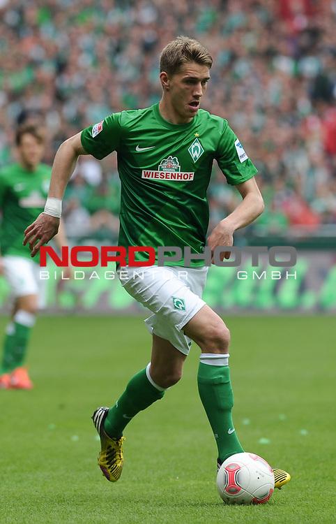 11.05.2013, Weserstadion, Bremen, GER, 1.FBL, Werder Bremen vs Eintracht Frankfurt, im Bild Nils Petersen (Bremen #24)<br /> <br /> Foto &not;&copy; nph / Frisch *** Local Caption ***