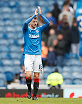 Andy Halliday applauding the fans