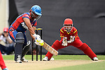 Nairry Thapa of Nepal in action with Zou Miao of China during their ICC 2016 Women's World Cup Asia Qualifier match between China and Nepal  on 11 October 2016 at the Kowloon Cricket Club in Hong Kong, China. Photo by Marcio Machado / Power Sport Images