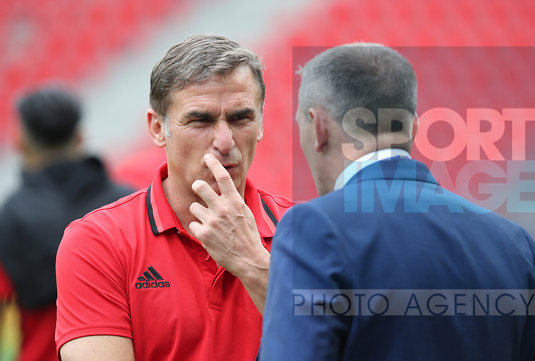 Germany's Stfan Kuntz looks on during the UEFA Under 21 Semi Final at the Stadion Miejski Tychy in Tychy. Picture date 27th June 2017. Picture credit should read: David Klein/Sportimage